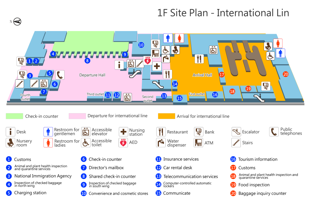 1F Site Plan - International Line